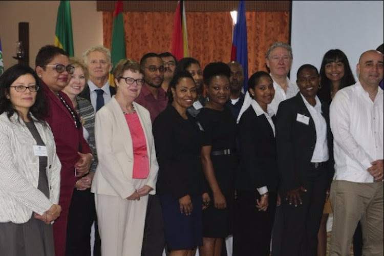 Photo: Representatives of the CARICOM Secretariat and senior environment officials of the Caribbean Community at the CARICOM Regional Workshop on the Conservation and Sustainable Use of Marine Biological Diversity beyond Areas of National Jurisdiction