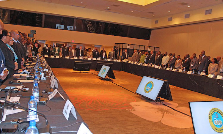 Photo: 5th Meeting of ACP Ministers in charge of Fisheries and Aquaculture, Nassau, the Bahamas. Credit: ACP Press.