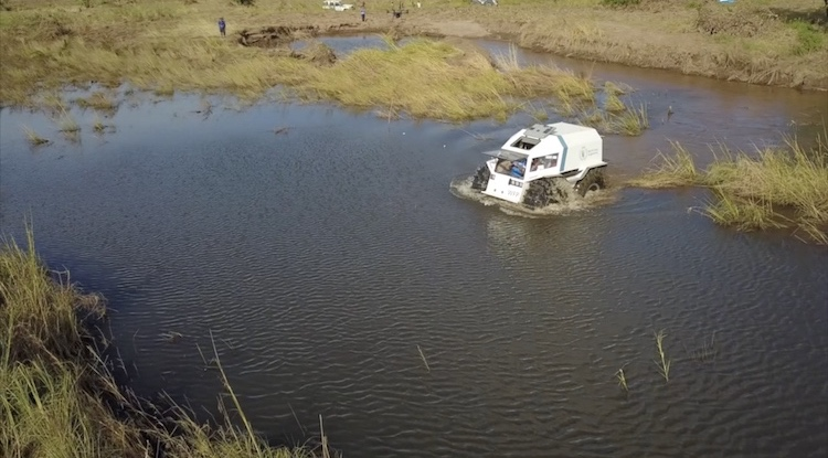 Photo: A Sherp crosses flooded plains to deliver 26 tons of food to Buzi in Northern Mozambique. Credit: WFP/Adam Marlatt